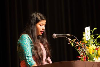在校生ネパール代表スニラ・チャウダリ発言