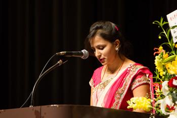 新入生ネパール代表サンギタ・シャルマ・テイワリ発言