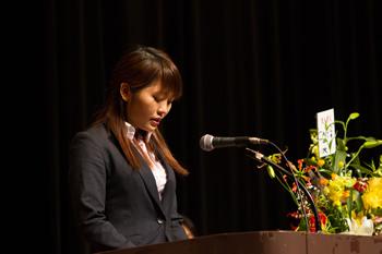 新入生ベトナム代表グエン・テイ・ヒエン発言